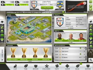 Mobiles Browsergame Goalunited Next